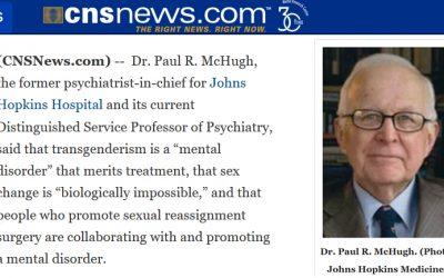 "Transgénerismo, ""trastorno mental"" —Johns Hopkins  University"